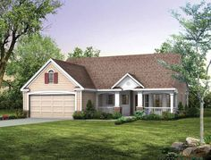 Eplans Country House Plan - Lovely Bayed Dining Room - 1118 Square Feet and 2 Bedrooms from Eplans - House Plan Code HWEPL00913