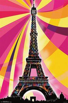Eiffel Tower - Psychedelic Poster at AllPosters.com
