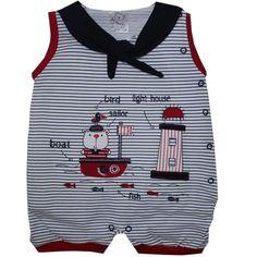 Cegonha Feliz Roupas Bebê Menino : *Banho de Sol Marinheiro Navy Para Bebê…