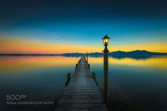 Peaceful Lake - Pinned by Mak Khalaf I hope 2016 started well for everybody. Today I'd like to share a peaceful impression from Lake Chiemsee/Bavaria shoot at christmas eve. Hope you'll like this one! Landscapes Landschaft2015@Rolf NachbarAlpsBavariaChiemseeGermanyLakeLandscapePierSeascapeSunsetbluecalmlakelightoutdoorspeacefulscenicskysunsettranquilwater by RolfNachbar