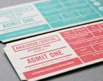 Analogue/Digital Creative Conferences Event Ticket