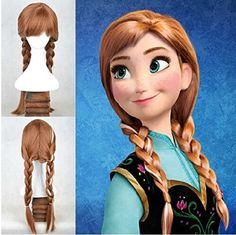 Queen Wig Anime Disney Movies Frozen Snow Queen Anna Cosplay Wig High Temperature Fiber: Amazon.de: Parfümerie & Kosmetik