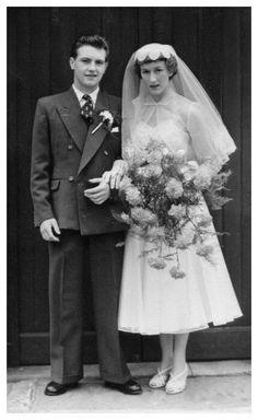 1950's Bride & Groom....