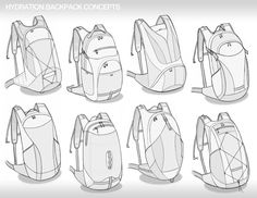 Soft Good Sketches Part 1 by Brad Gressel, via Behance