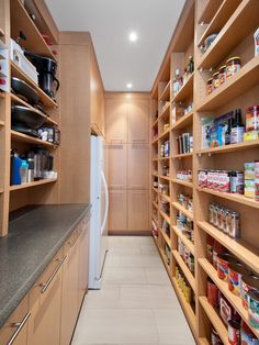 walk in pantry with an additional fridge or freezer would be nice