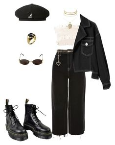 """Memories"" by newagevision ❤ liked on Polyvore featuring Topshop, Charlotte Russe, Dr. Martens, Alessandra Rich, Marni, kangol and Yves Saint Laurent"