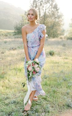 One Shoulder Billy Bridesmaid Dress