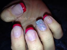 Acrylic with Wildfire Shellac- Nails by Michelle Cordes
