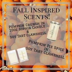 Fall scents are here! Get them while you can before there gone!