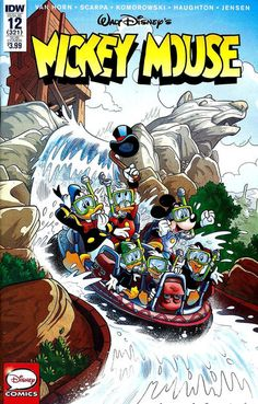 Cover for Mickey Mouse (IDW, 2015 series) / 321 Cartoon Posters, Disney Posters, Cartoon Drawings, Disney Cartoon Characters, Disney And Dreamworks, Disney Cartoons, Vintage Comic Books, Vintage Comics, Mickey Mouse And Friends