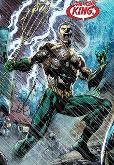 Some Ivan Reis pics of Aquaman Arte Dc Comics, Aquaman Dc Comics, Comic Book Covers, Comic Books Art, Comic Art, Book Art, Comic Poster, Dc Universe, New 52