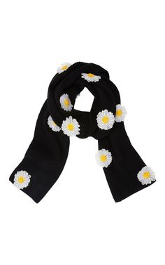 Daisy Embellished Scarf by PAPER LONDON for Preorder on Moda Operandi