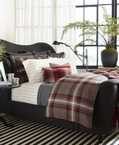 Ralph Lauren Bedding and Bath - Macy's West Village Collection Bedding And Bath, Room, Plaid Bedding, Home Bedroom, Farmhouse Bedroom Furniture, Bedroom Design, Home Decor, Farmhouse Bedroom Decor, Bed