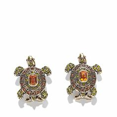 "Heidi Daus ""Slow Poke"" Pavé Crystal Turtle Earrings"