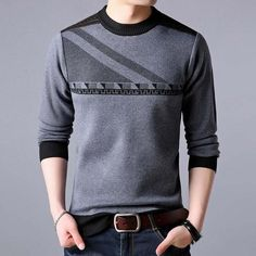 2018 new line pull mens sweaters casual thick male pullover sweater slim fit men blusa masculina clothes jersey sweter man 31890 Sweater Shirt, Pullover Sweaters, Men Sweater, Pullover Pullover, Camisa Polo, Polo T Shirts, Men Shirts, Suit Fashion, Sweater Fashion