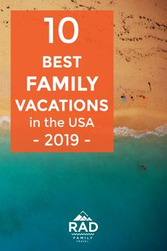 Best family vacations for 2019 — besides Disney USA Family Vacation Destinations for 2019 — besides Disney! 10 places we've either experienced already with our kids and teens – or are on our short bucket list. You just might be surprised by a few of them! Best Family Vacation Destinations, Travel Destinations, Family Summer Vacation Ideas, Best Summer Family Vacations, Best Beach Vacations Usa, Inexpensive Family Vacations, Vacation List, Summer Vacation Spots, Vacation Travel