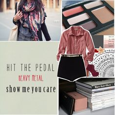 """I want you to hit the pedal, heavy metal show me you care, I want you to rock me"" by sailorhoe ❤ liked on Polyvore"