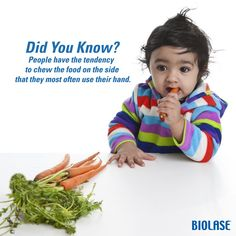 #DidYouKnow: People have the tendency to chew the food on the side that they most often use their hand.