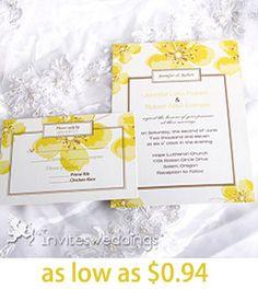 Bright Yellow Cherry Blossom Wedding Invitations- what do you think? Orange Wedding Invitations, Affordable Wedding Invitations, Wedding Favors, Our Wedding, Invites, Dream Wedding, Wedding Ideas, Cherry Blossom Wedding, Spring Wedding Colors