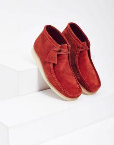 Clarks Originals Suede Wallabee Boot Red