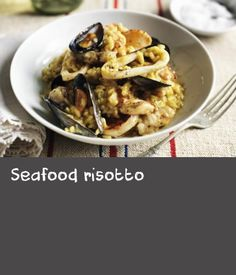 Impress at a dinner party with Rick Stein's seafood risotto recipe flavoured with saffron and white wine. Seafood Recipes, Wine Recipes, Seafood Risotto, Rick Stein, Risotto Recipes, Sea Food, White Wine, Yummy Food, Chicken