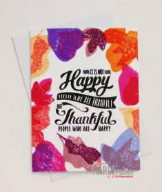 rieslingmama: giving thanks blog hop with STAMPlorations layered leaves typografia