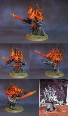 Chaos Space Marines Daemon Prince of the Charred Legion.: