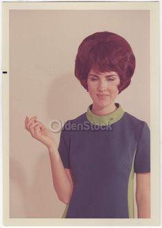 Brunette Air West Airline Flight Attendant Fashion Model Vintage 1960s Mod Dress Photoshoot Photo