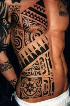 Polynesian tattoos are rooted deeply in history and tradition. When people talk about tribal tattoos, this is what they mean.