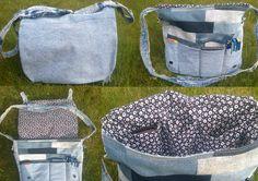 Minervas Handarbeit: Jeans messenger bag