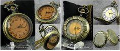 Vintage Bronze Retro Quartz Pocket Watch Necklace Chain Steampunk Antique | eBay