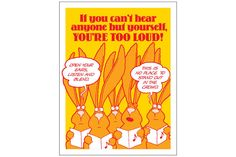 """IF YOU CAN'T HEAR ANYONE Poster - 19"""" x 25""""."""