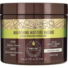 Macadamia Professional Nourishing Moisture Masque hydrates and creates silkiness