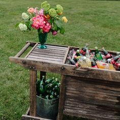 Refreshment Cart - photo by: Our Labor Of Love Event Planning: Ashley Baber Weddings Location: Barnsley Gardens Resort Rental Equipment: I Do Linens Centerpieces: amy osaba event.floral.design