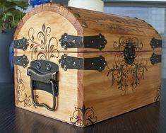 Woodburned Chest by CrystalKittyCat.deviantart.com on @deviantART