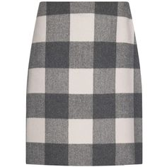Weekend Max Mara Baviera skirt ($395) ❤ liked on Polyvore featuring skirts, grey multi, a line skirt, gray a line skirt, grey a line skirt, knee length a line skirt and checkered skirt