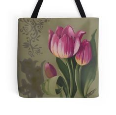 Tulips and shadows - acrylic painting