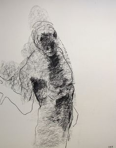 """Gestural Male Figure Drawing - 11 x 14"""",  from life - Drawing 78 - graphite on paper - original drawing"""