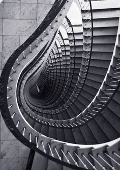 Abstract Architecture Photograph - Black and White Staircase Photo - 8x10 Print. $20.00, via Etsy.