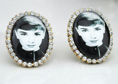 Oh Audrey Earrings. Paying homage to one of our favorite gals from the silver screen, Audrey Hepburn. http://www.plushboutique.net/