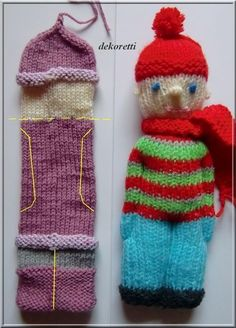 Baby Knitting Pattern I wanted to knit for a long time. You simply knit a hose, I have … Knitted Doll Patterns, Poncho Knitting Patterns, Knitted Dolls, Crochet Dolls, Crochet Patterns, Knit Crochet, Simply Knitting, Easy Knitting, Loom Knitting