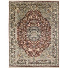 Create a new dimension of style in your home with this hand-knotted rug featuring durable wool construction. This elegant rug is highlighted by a red Oriental pattern with a beautiful traditional desi