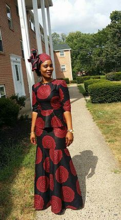 Online Hub For Fashion Beauty And Health: Stylishly Elegant Ankara Skirt And Blouse Dress Fo. African American Fashion, African Print Fashion, Africa Fashion, African Inspired Fashion, Long African Dresses, Latest African Fashion Dresses, African Print Dresses, African Prints, African Attire