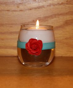Turquoise Wedding / Wedding Votive Candle by CarolesWeddingWhimsy, This set of 6  Turquoise and Red Beach Wedding Votive Candle Holder are perfect for  a Destination Wedding, Spring Wedding, or Summer Wedding.  You can find them here https://www.etsy.com/listing/128218669/turquoise-wedding-wedding-votive-candle https://www.etsy.com/shop/CarolesWeddingWhimsy https://www.facebook.com/CarolesWeddingWhimsy