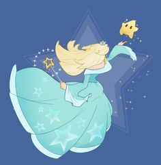 DAY 19 of 365 Daily Art Challenge Rosalina! I hope I didn't go overboard with the sparkles~ Super Mario Princess, Nintendo Princess, Super Mario Art, Super Mario Brothers, Mario And Luigi, Mario Bros, Ying Y Yang, Nintendo Game, Video Game Characters