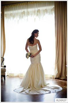 Couture EcoFriendly Rouched Wedding Dress  Fit by NaturalBridals, $1595.00