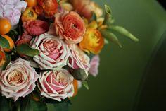 poppy ranunculus spring centerpiece