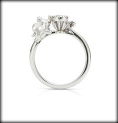 【K.UNO】ダンボ エンゲージリング | オーダーメイド ディズニージュエリー | 結婚指輪・婚約指輪のケイ・ウノ