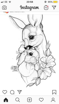 Katze Tattoo 2019 Katze Tattoo The post Katze Tattoo 2019 appeared first on Floral Decor. Pencil Art Drawings, Art Drawings Sketches, Tattoo Sketches, Tattoo Drawings, Cute Drawings, Sketch Art, Bunny Tattoos, Rabbit Tattoos, Animal Tattoos