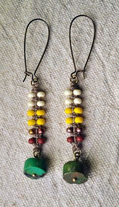 creative jewelry- Zipper Earrings with Turquoise